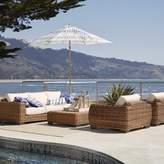 Smith & Hawken Eldridge Wicker 4pc Patio Conversation Set with Sunbrella Cushions