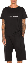 Willy Chavarria Stay Black Tee in Black