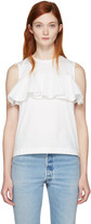 Edit White Ruffle Top