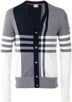 Moncler Gamme Bleu check panel cardigan - men - Cotton - XL
