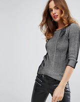 Sisley Sweater in Contrast Knit