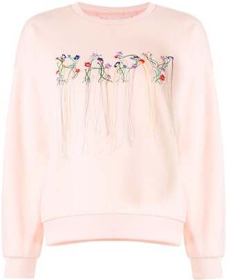 BAPY BY *A BATHING APE® Embroidered Floral Logo Sweatshirt