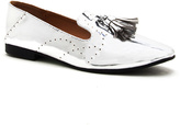 Qupid Silver Moby Tassel Loafer