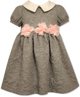 Bonnie Baby Baby Girls' Quilted Flower Dress