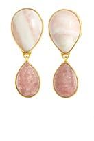 HEATHER BENJAMIN Pink Agate Drop Earrings