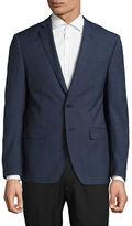 Calvin Klein Extreme Slim-Fit Checkered Wool Sports Jacket
