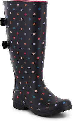 Western Chief Womens Rain Boots Waterproof Flat Heel Pull-on Extra Wide Calf