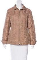 Loro Piana Quilted Herringbone Print Coat