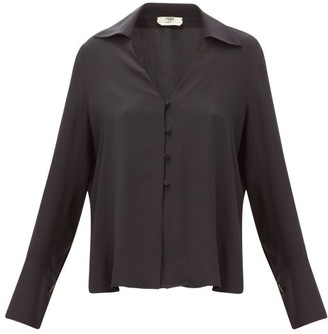 Fendi High-neck Poplin Blouse - Womens - Black