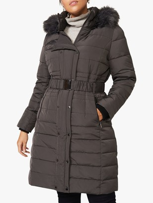 Studio 8 Leona Long Puffer Coat, Grey