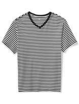 Amazon Essentials Men's Big & Tall Short-Sleeve Stripe V-Neck T-Shirt Shirt
