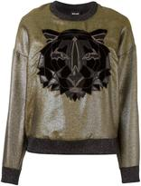 Just Cavalli tiger patch sweatshirt