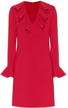 Valentino wool-blend crepe dress