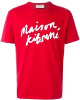 MAISON KITSUNÉ logo print T-shirt - men - Cotton - S