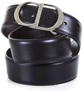 Christian Dior Double Face Calf Leather Logo Buckle Belt