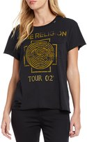 True Religion Dizzy Tour Destructed Short Sleeve Tee