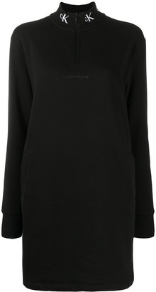 Calvin Klein Jeans High-Neck Shift Dress