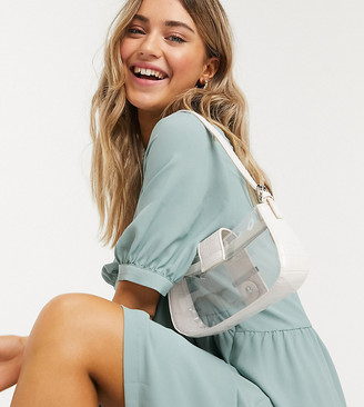 Monki Thora wide sleeve midi dress in sage