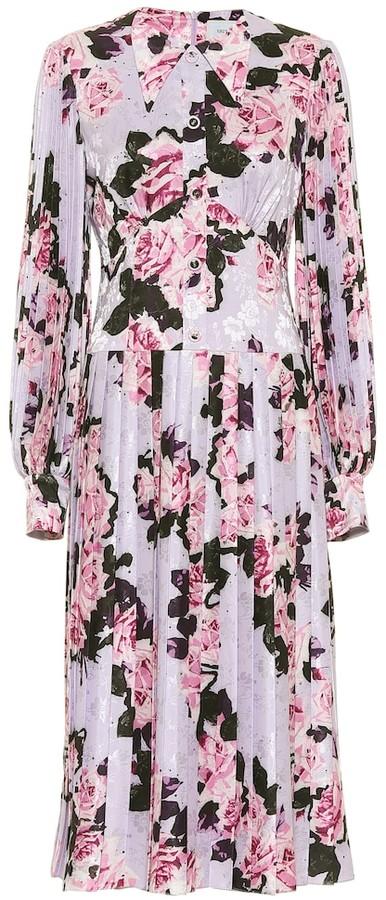 Thumbnail for your product : Erdem Venner floral jacquard satin dress