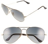 Ray-Ban Women's Large Icons 62Mm Aviator Sunglasses - Gold/ Grey
