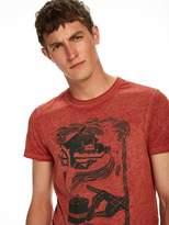 Scotch & Soda Illustrated Burn-Out T-shirt