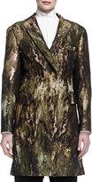 Donna Karan JACQUARD SCULPTD BELTED COAT