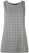 Nike checked tank top - women - Nylon/Polyester/Spandex/Elastane - S
