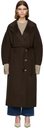 Nanushka Brown Loan Coat