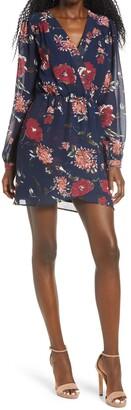 Lulus Floral Pretty Pretender Long Sleeve Minidress