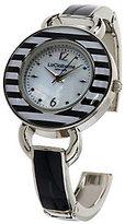 Liz Claiborne New York Bangle Watch with Striped Bezel