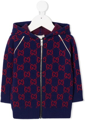 Gucci Kids GG knitted hoodie