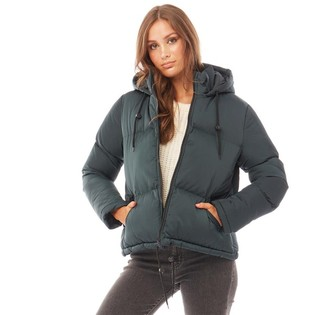 Brave Soul Womens Cello Padded Jacket Teal