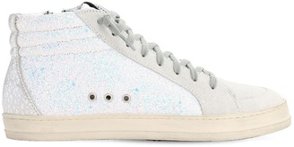 P448 20mm Skate Glitter & Suede High Sneakers