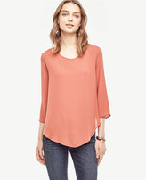Ann Taylor Petite Layered Mixed Media Top