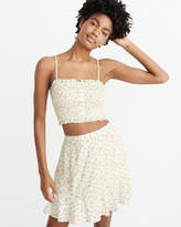 Abercrombie & Fitch Smocked Crop Cami