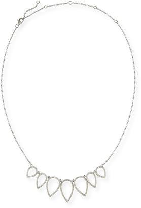 "Siena Jewelry Diamond Open Teardrop Chain Necklace, 20"""