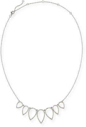 Siena Jewelry Diamond Open Teardrop Chain Necklace, 20""