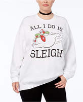 Hybrid Trendy Plus Size Sleigh Holiday Graphic Sweatshirt