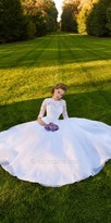 Camille La Vie Short Sleeve Lace Organza Wedding Dress
