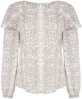 Linea Una ruffle shoulder blouse
