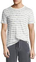 ATM Anthony Thomas Melillo Distressed Painted-Stripe T-Shirt