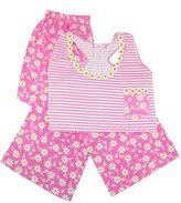 CTM® Women's Plus Size Tank and Pant Pajama Set
