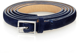 Theory Delphine Navy Skinny Suede Belt