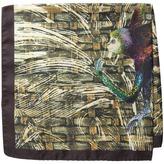 Etro Monkey Jungle Print Silk Pocket Square
