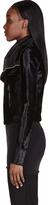 Rick Owens Black Calf-Hair Biker Jacket