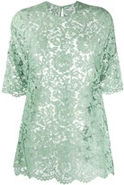 Valentino floral lace T-shirt