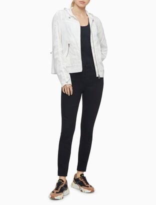 Calvin Klein Solid Full Zip Hooded Jacket