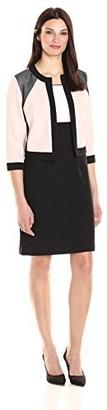 Sandra Darren Women's 2 Pc Stretch Crepe 3/4 Sleeve Jacket Dress Set