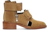 3.1 Phillip Lim Tan Suede Addis Boots