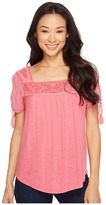 Lucky Brand Embroidered Top Women's Blouse